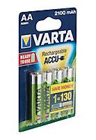 Pile rechargeable Varta Ni-MH AA-HR6 - Lot de 4