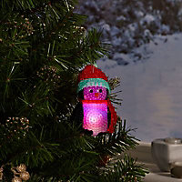 Pingouin lumineux LED 10 cm