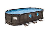 Piscine hors sol Bestway Power Steel Swim Vista bois 5,49 x 2,74 m