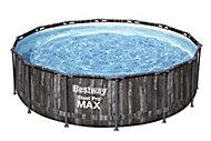 Piscine hors sol Bestway Steel Pro Max effet bois ø4,27 m
