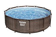 Piscine hors sol Bestway Steel Pro Max™ effet rotin ø3,66 m