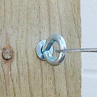 Piton à visser tension acier zing Verve 14 cm (lot de 4)