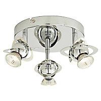 Plafonnier 3 spots Astraea métal chrome GU10 3x35 W