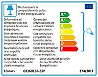 Plafonnier 3 spots LED Colours Akiak noir G9