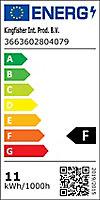 Plafonnier 3 spots Mageia métal/verre chrome LED 5,5 W