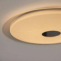 Plafonnier LED intégrée + anneau 2 en 1 Colours Angoon blanc neutre et blanc chaud 4000K Taille XL