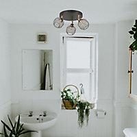 Plafonnier salle de bain Orin 3 lampes IP44 G9 Métal