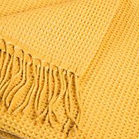 Plaid Effet laine Shenty 12.7x18cm Ocre
