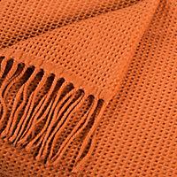 Plaid Effet laine Shenty 12.7x18cm Terracotta