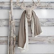 Plaid Eskimo 125x150cm Gris Clair