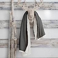 Plaid Eskimo 125x150cm Gris Fonce