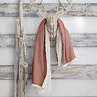Plaid Eskimo 125x150cm Rose Clair