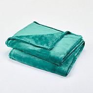 Plaid GoodHome Lulu vert 150 x 180 cm