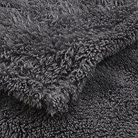 Plaid GoodHome Takeo gris 160 x 200 cm