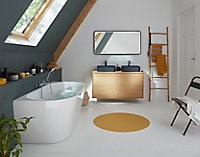 Plan de toilette GoodHome Avela placage chêne 120 cm