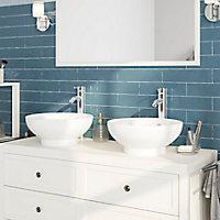 Plan de toilette GoodHome Perma blanc 120 cm