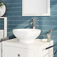 Plan de toilette GoodHome Perma blanc 80 cm