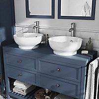 Plan de toilette GoodHome Perma bleu 120 cm