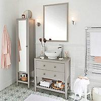 Plan de toilette GoodHome Perma taupe 80 cm
