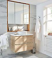 Plan de toilette Marloes blanc 80 cm GoodHome