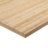 Plan de travail bambou brut 180 x 65 cm ép.38 mm (vendu à la pièce)
