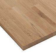 Plan de travail bois chêne massif 180 x 65 cm ép.38 mm (vendu à la pièce)
