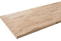 Plan de travail bois chêne massif 250 x 65 cm ép. 38 mm (vendu à la pièce)