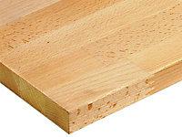 Plan de travail bois hêtre huilé 250 x 65 cm ép.26 mm (vendu à la pièce)