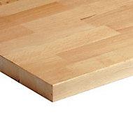 Plan de travail bois hêtre massif 200 x 65 cm ép.26 mm (vendu à la pièce)