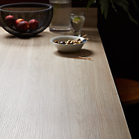 Plan de travail compact 1 face aspect bois / 1 face aspect bois foncé GoodHome Nepeta 300 cm x 62 cm x ép. 1.2 cm