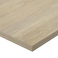 Plan de travail d'angle stratifié aspect bois décor chêne Québec 97,7 x 65 cm ép.38 mm (vendu à la pièce)