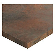 Plan de travail d'angle stratifié aspect bois Karusti 97,7 x 65 cm ép.38 mm (vendu à la pièce)