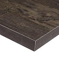 Plan de travail d'angle stratifié décor bois Plamky 97,7 x 65 cm ép.38 mm (vendu à la pièce)