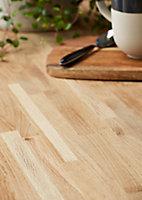 Plan de travail en chêne massif GoodHome Kava 300 cm x 62 cm x ép. 2.6 cm