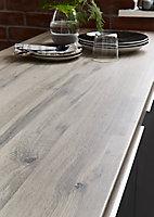 Plan de travail en stratifié aspect bois GoodHome Kabsa 300 cm x 62 cm x ép. 3.8 cm