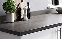 Plan de travail en stratifié aspect chêne grisé GoodHome Kabsa 300 cm x 62 cm x ép. 3.8 cm