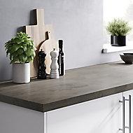 Plan de travail en stratifié aspect ciment GoodHome Kala 300 cm x 62 cm x ép. 3.8 cm