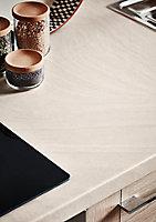 Plan de travail en stratifié aspect travertin GoodHome Kabsa 300 cm x 62 cm x ép. 3.8 cm