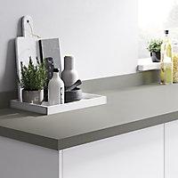 Plan de travail en stratifié gris mat GoodHome Berberis 300 cm x 62 cm x ép. 3.8 cm
