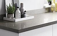 Plan de travail en stratifié gris pailleté GoodHome Berberis 300 cm x 62 cm x ép. 3.8 cm