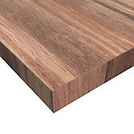 Plan de travail stratifié aspect bois décor noyer foncé hydrofuge 304 x 66 cm ép.30 mm (vendu à la pièce)