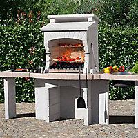Plan de travail évier pour barbecue fixe Blooma Makalu