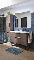 Plan double vasque en résine blanc Urban 120 cm