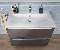 Plan vasque blanc GoodHome Nira 80 cm