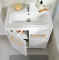 Plan vasque céramique GoodHome Towan 60cm