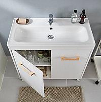 Plan vasque céramique GoodHome Towan 80cm