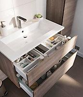 Plan vasque en céramique blanc Cooke & Lewis blanc Calao 90 cm