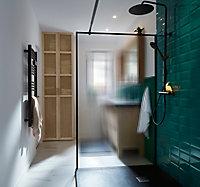Plan vasque en résine noir Cooke & Lewis Harmon 140 cm