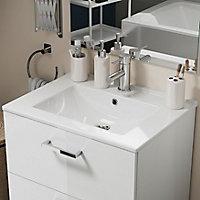 Plan vasque à encastrer en céramique blanche Opah l. 61 cm