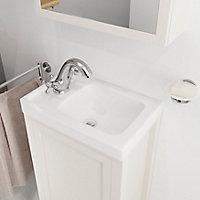 Plan vasque lave-mains blanc GoodHome Lana L. 30,7 x H. 142 x P. 30,7 cm